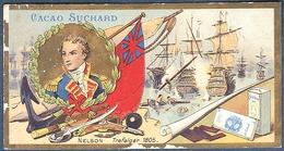 Chromo Chocolat Suchard Neuchatel Suisse Horatio Nelson Drapeau Grande Bretagne Bataille Trafalgar 1805 - Suchard