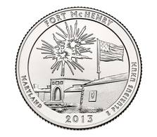USA, 2013 Fort McHenry, 25 C Coin - 2010-...: National Parks