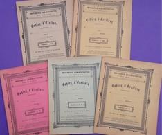 5 CAHIERS D'ECRITURE Des Années 1890 - Jamais Utilisés - N° 6-7-8-9-10 Ecriture Gothique Et Tenue Des Livres Comptables - Diplômes & Bulletins Scolaires