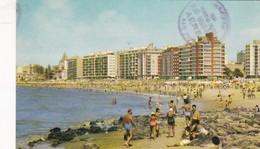 1962 CPA -  MONTEVIDEO. PLAYA POICITOS. ED IMPRESIORA  URUGUAYA. CIRCULEE URUGUAY TO SAN JOSE, COSTA RICA - BLEUP - Uruguay