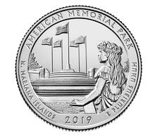 USA, 2019 Northern Mariana Islands, 25 C Coin (P) - 2010-...: National Parks