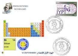 DZ Algeria 1836 2019 Anno Internazionale Della Tavola Periodica Degli Elementi Chimici Dmitry Mendeleev Chimica Silicio - Chimica