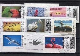 France, Lot De 9 Timbres ( Mon Timbre à Moi ). Thème: Les Oiseaux - 2010-... Vignettes Illustrées