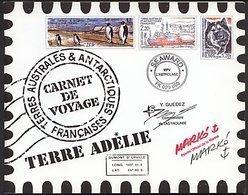 TAAF, N° 308 à N° 321** Y Et T, Carnet De Voyage C308, Terre Adélie - Booklets