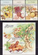 Malaysia 2019-6 Sour Fruits Set+M/S MNH With Margin Flora Flower Food Fruit Unusual (shape) - Malaysia (1964-...)