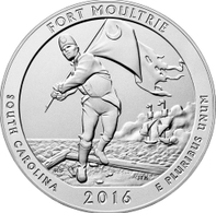 USA, 2016 Forte Moltro, P, Coin 25 C - 2010-...: National Parks