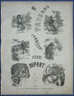 CAF CONC Paysannerie Populaire PIANO GF CHANT RUSTIQUE PARTITION XIX PIERRE DUPONT LES BOEUFS PARIZOT 1 DES PAYSANS 1858 - Muziek & Instrumenten