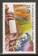 1979 Mi# 2395 ** MNH - Agrarian Reform, 20th Anniv. - Nuevos
