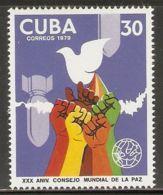 1979 Mi# 2411 ** MNH - World Peace Council, 30th Anniv. - Cuba