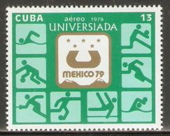 1979 Mi# 2427 ** MNH - 10th World Universiade Games, Mexico City / Sports - Nuevos