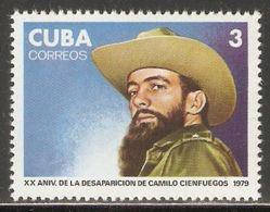 1979 Mi# 2437 ** MNH - Disappearance Of Camilo Cienfuegos, 20th Anniv. - Nuevos