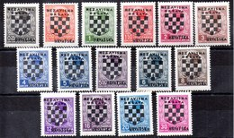 Serie De Croacia N ºYvert 9/23 */** (Papel Negro Pegado De Albumalgún Valor) - Croacia