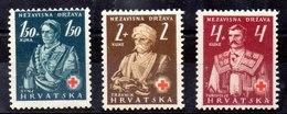 Serie De Croacia N ºYvert 46/48 * - Croacia