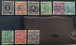 Deutschland Allierte Besetzung 1948 Satz Bandaufdruck Mi. I-IX/I Geprüft BPP: Aufdruck Echt, Stempel Falsch (Bizone - American/British Zone