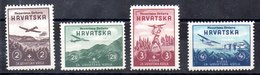 Serie De Croacia N ºYvert 50/53 */** (Nº 52 Con Charnela) - Croacia