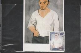 PICASSO  AUTOPORTRAIT CARTE ET TIMBRE CONCORDANTS  CPM MINT - Picasso