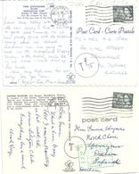 TWO CANADIAN POSTCARDS WITH CHARGE MARKS AND TO PAY - OXFORD MUSEUM - ZOO GRANBY - 1953-.... Reign Of Elizabeth II