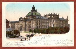 Muenchen, Justizpalast, Wappen, Nach Dresden 1899 (75322) - München