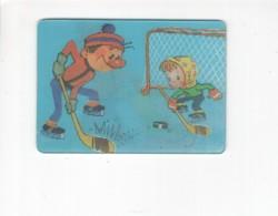 1430 3D Lenticular Soviet Russia Cartoon Calendar Hockey - Calendari