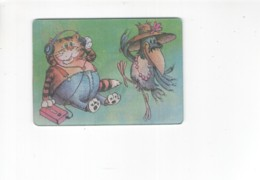 1063 3D Lenticular Soviet Russia Cartoon Calendar Parrot Cat Crow - Calendari