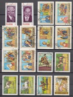 (03) Fudschaira/Fujairah/Fujeira - 32 Used Stamps, From The Years 1970-1971 - See 2 Scans - Fudschaira
