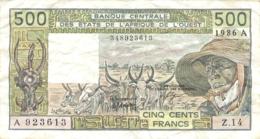 BILLET BANQUE CENTRALE DES ETATS DE L'AFRIQUE DE L'OUEST 500 FRANCS - États D'Afrique De L'Ouest