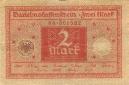 BILLET 2 MARK REICHSSCHULDENVERWALTUNG - 1918-1933: Weimarer Republik