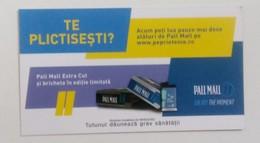 ROMANIA-CIGARETTES  CARD,NOT GOOD SHAPE,0.90 X 0.50CM - Tabac (objets Liés)