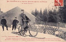 CPA (88) VOSGES Le Véloski SAUVAIN Sport Byciclette Cycling Radsport Cie Cycliste 4° Chasseurs Militaria (2 Scans) - Non Classés