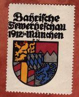 Vignette Werbemarke, Bayrische Gewerbeschau Muenchen 1912 (75328) - Vignetten (Erinnophilie)