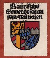 Vignette Werbemarke, Bayrische Gewerbeschau Muenchen 1912 (75329) - Vignetten (Erinnophilie)