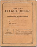 CAHIERS De DEVOIRS MENSUELS - ECOLE De LIERGUES (Rhône) Commencé 14/1/1896 - 64 Pages - Diplômes & Bulletins Scolaires