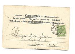 Sterstempel / Cachet Etoile  * CLEMSKERKE *  8.06.1903 Op Pk/cv (2e Scan)  Lichte Plooi Cfr Scans - 1893-1900 Schmaler Bart