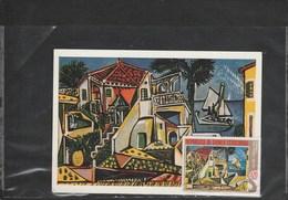 PAYSAGE DU MIDI    1952 JUAN LES PINS,? TIMRE ET CARTE CONCORDANTS  Cpm Mint - Picasso