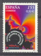 Spain 2001 - Contra Violencia Domestica  Ed 3779 (**) - 1931-Hoy: 2ª República - ... Juan Carlos I