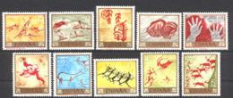 Spain 1967 - Pinturas Rupestres Ed 1779-88 (**) - 1961-70 Nuevos & Fijasellos
