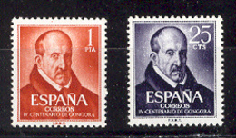 Spain 1961. Gongora Ed 1369-70 (**) - 1961-70 Nuevos & Fijasellos
