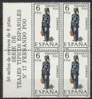 España 1968, Traje Fernando Poo Bk4 + Etiq Ed=1843 (**) - 1961-70 Nuevos & Fijasellos