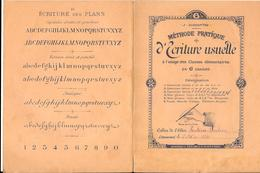 CAHIERS D'ECRITURE USUELLE  2/5/1899 -  METHODE PRATIQUE DE J.DUCHAPITRE - 16 Pages - Petit Format - Complet - Diplômes & Bulletins Scolaires