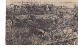 LE FRONT DE CHAMPAGNE RÉGION DE PERTHES LES HURLUS  POSTE DE COMMANDEMENT AU TROU BRICOT - Guerra 1914-18