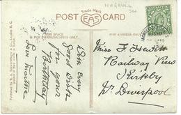 MAGHULL STATION POSTMARK 1913 ON GREETINGS CARD - Postmark Collection