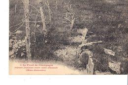 LE FRONT DE CHAMPAGNE  DÉFENSES FRANÇAISE CONTRE TANKS ALLEMANDS ( MINES DISSIMULÉES ) - Guerra 1914-18