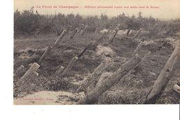LE FRONT DE CHAMPAGNE DÉFENSES ALLEMANDES CONTRE NOS TANKS ( SUD DE BEINE ) - Guerra 1914-18