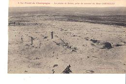 LE FRONT DE CHAMPAGNE LA PLAINE DE REIMS PRISE DU SOMMET DU MONT CORNILLET - Guerra 1914-18