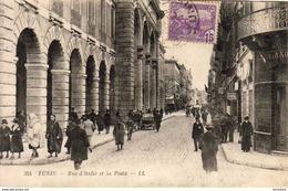 TUNISIE   TUNIS  Rue D'Italie Et La Poste - Tunisie