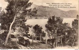 D06  Menton Entre Les Pins  Avec Le Tram De Monte Carlo à Menton - Menton