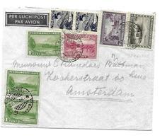 Ned. Indie. Gekapt Stempel Bandoeng. 3 Poststukken. - Netherlands Indies