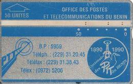 CARTE HOLOGRAPHIQUE--BENIN-50U-BLEU-V° N° Envers 205A07024-BE-RARE - Bénin