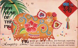 Northern Mariana Islands - NMI-MT-14, Mtc,Year Of The Pig, Chinese New Year, 10U, 1995, Used - Marianen
