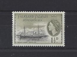 FALKLAND Is.....QUEEN ELIZABETH II.(1952-NOW)....1 AND HALFd...SGG28.....MH... - Falklandeilanden